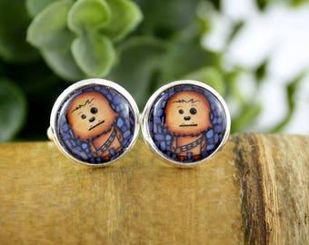 Chewy Cufflinks - Gift for Him - Wedding Accessories - Grooms Gift Idea - Father's Day Gift - Chewbacca Cufflinks - Star Wars Cufflinks