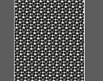Forget-me-not flowers large - laser engraved texture sheet for rolling mill and metal clay