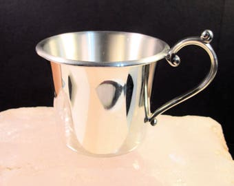 Lenox Kirk Stieff Collection Pewter Baby Cup, New In Box, No Engravings!