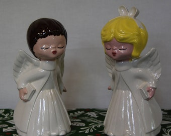 Vintage Ceramic Kissing Angels