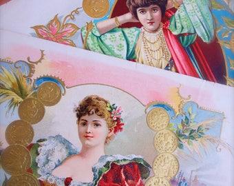 Cigar Label Ads Antique Litho Paper Ephemera