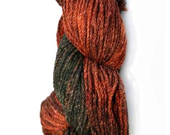 DK Weight Yarn, Black and Red, Hand Dyed Original from Yarn Designers Boutique