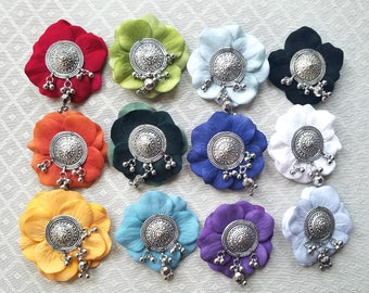 Tribal Mini Flower Clip - 20+ Colors/Styles