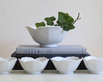 White Lotus Bowls, Set of 5, 1960s