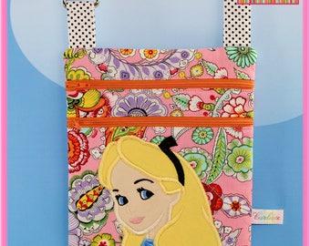 Small Cross body Applique Bag Alice In Wonderland Disney