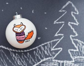 Fallon the Fox Ornament - Color