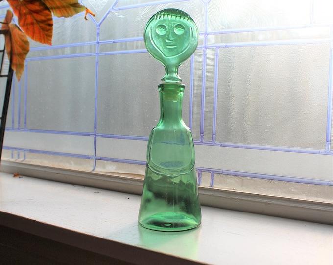 Erik Hoglund People Bottle Green Man Vintage Mid Century Modern 1960s