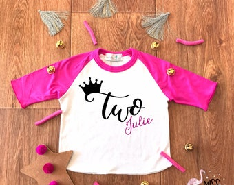 Two Year Old Birthday Outfit Girl,Girl Second Birthday Shirt,2th Birthday Shirt,Second Birthday Tee,2nd Birthday Shirt,Girl Birthday Shirt