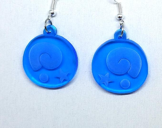 Animal Crossing Fossil Dangle Earrings | Laser Cut Jewelry | Hypoallergenic Hook Dangle Earrings | Acrylic Earrings