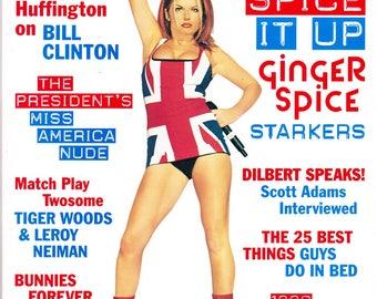 Playboy Magazine May 1999 with Spice Girl's Geri Halliwell, Dilbert's Creator Scott Adams, Actor Ben Stiller, Tiger Woods