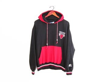 vintage sweatshirt / Chicago Bulls / 90s sportswear / 1990s Chicago Bulls Starter hoodie sweatshirt Medium