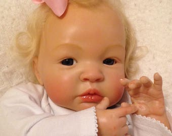 Reborn Baby Girl Completed, Not a kit- Shyann Sculpt