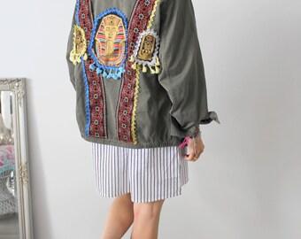 Veste camouflage femme vintage