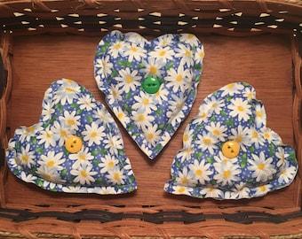 Daisy Heart Bowl Fillers - Set of 3 - Daisy Decor - READY to SHIP