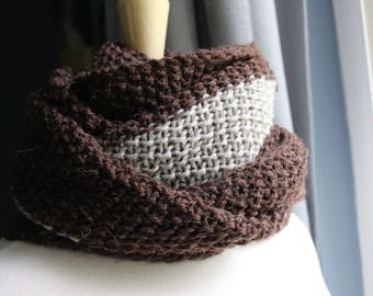 Oversized Brown Cowl