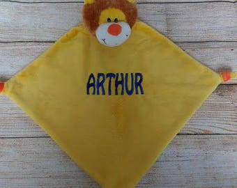 Personalised Lion Baby Blankie, Cubbies, New Baby Gift, Newborn
