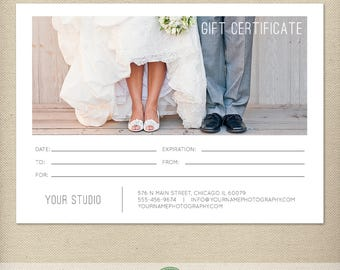 5x7 Digital or Print Gift Certificate, Gift Card, Photography Gift, One-Side, Single-Side, Modern, Simple, TEMPLATE - GC4