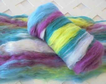 Art Batts, SUMMER'S END, Luxury Spinning Batts, Batts for Spinning, Batts for Felting, Merino Top, Merino Roving, Spinning Silk, Nuno Felt