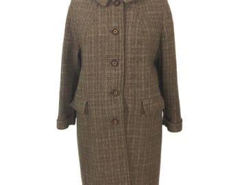 Harris tweed coat | Etsy