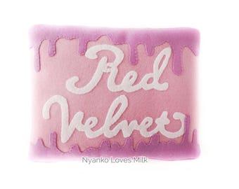 Red Velvet Ice Cream Cake Pillow