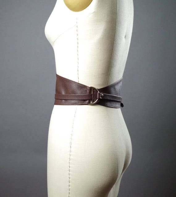 Vegan Leather Obi Belt - Brown Vegan Leather Obi Belt - Women's Wrap Belt - Brown Obi Belt - Boho Brown Belt