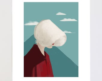 Offred The Handmaid's Tale Portrait Illustration Art Print