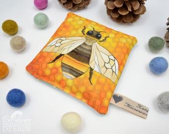 Bumble Bee Microwavable Wheat Warmer, Hand Warmer, Heat Pad, Bee Gift