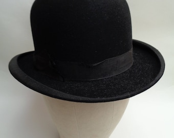 Vintage Bowler / Derby Hat by Collett & Seymour of Truro 6 7/8