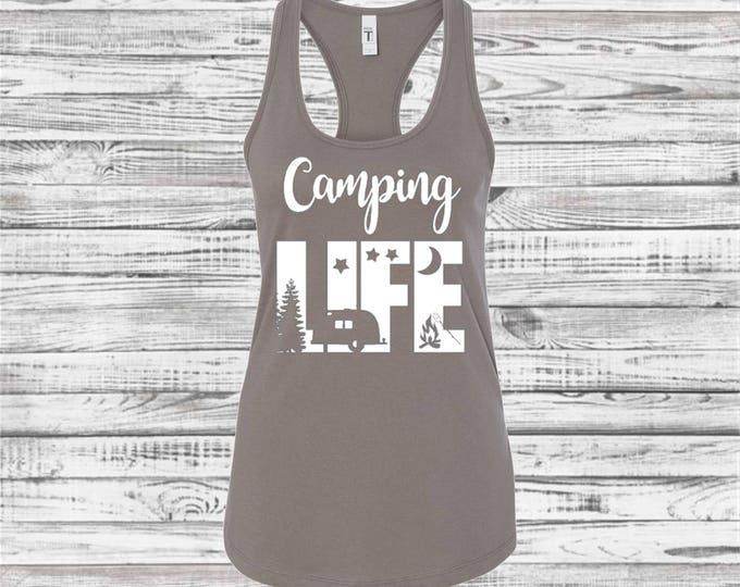 Camping Shirt, Camping Tank Top, Camp Shirt, Outdoors, Road Trip, Camping Trip, Bridesmaid Tank Top, Girls Trip Shirt, Camping Bachelorette