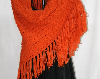 Vintage Inspired Carrot Popcorn Shawl