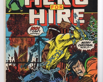 "Luke Cage, Hero For Hire #7 ""Jingle Bombs!"" - Marvel Comics 1973 - VF Grade - Jessica Jones, The Defenders, Netflix Hero"