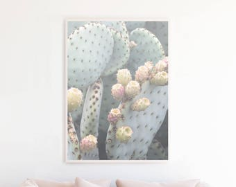Cactus Print, Cactus Printable, Cactus Art, Cactus Photography, Pastel Wall Art, Boho Decor, Prickly Pear Photo Cactus Download, pp3pc