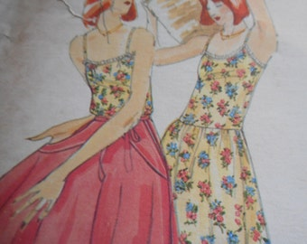 Vintage 1970's Butterick 3660 Kenzo Dress and Skirt Sewing Pattern Size 12 Bust 34