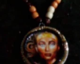 Long neffertiti long necklace