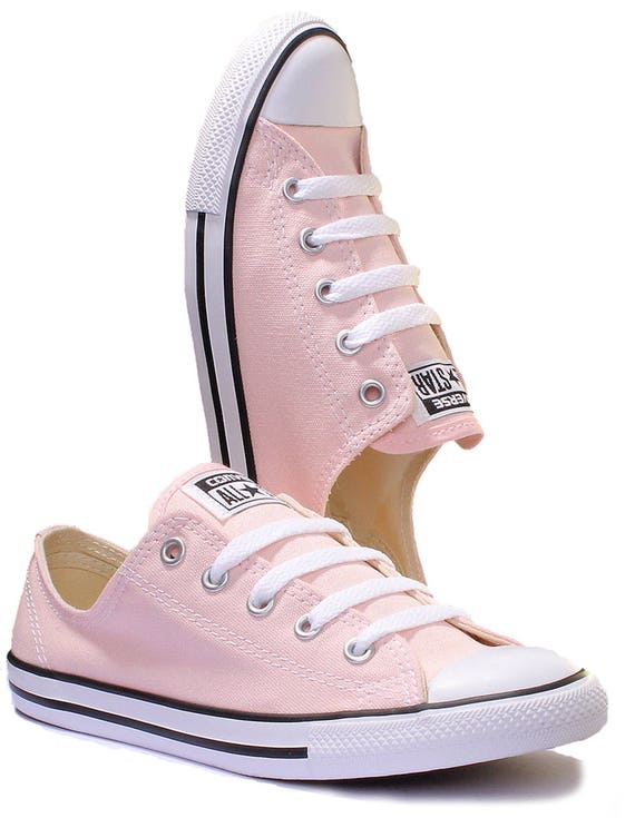 Converse Dainty Blush Pink Wedding Custom Bride Kicks w/ Swarovski Crystal Jewel Rhinestone Bling Chuck Taylor All Star Trainer Sneaker Shoe