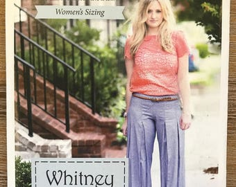 UNCUT Misses' Skirt and Pants Sewing Pattern Violette Field Threads Whitney Size 2-16 Average, Curvy, Pleated, Straight Leg