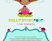 4 Yoga Multicultural Poses Printable Cards, Yoga Cards, Yoga Poses, Kids Yoga Poses, Kids Yoga, Kids Yoga Party 4 x 6""