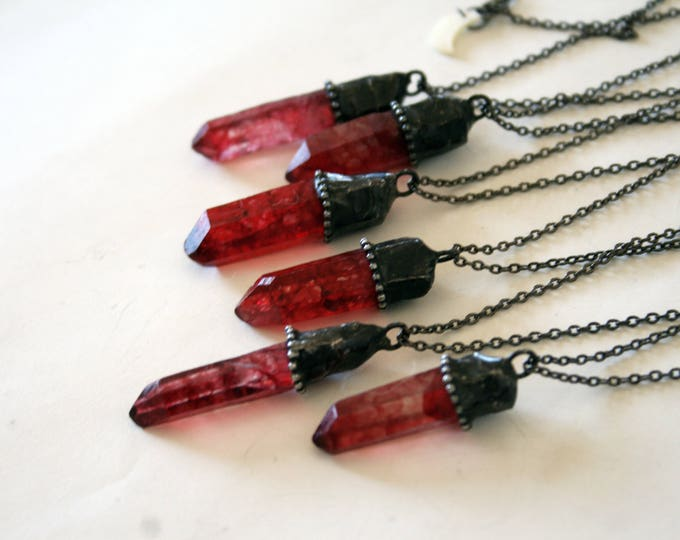 Choose Your Red Quartz Crystal Necklace