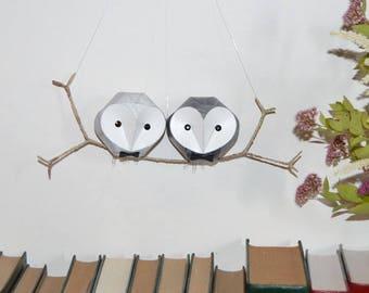 Barn Owl Sculpture, gay wedding gift, same sex couple anniversary