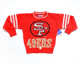 Deadstock 90's TODDLERS San Fransisco 49ers Sweater Sz M(5-6)