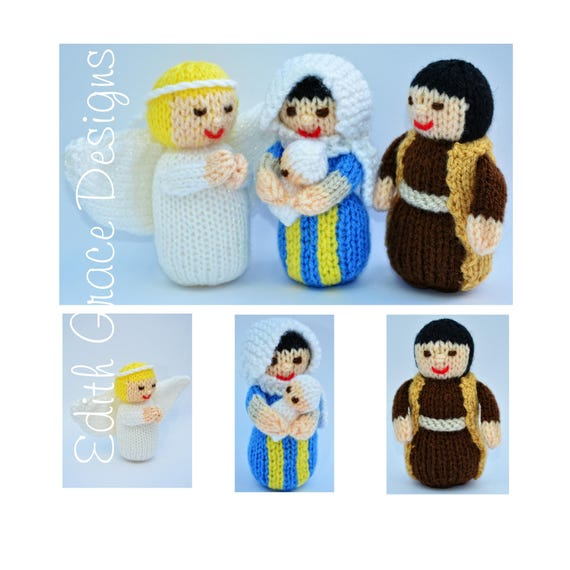 Nativity Toy Knitting Pattern Knitted Nativity Jesus Doll