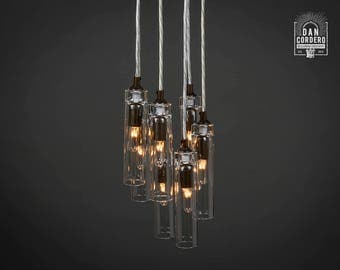 Chandelier | Pendant Light Fixture | Oil Rubbed Bronze | Pendant | Entry Light | Light Fixture | Pendant Light | 7-Port