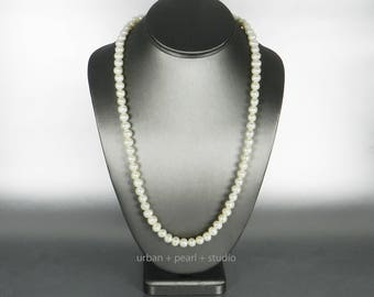 Long Pearl Necklace Freshwater Cultured Pearls Gifts for Her Under 50 Dollars Anniversary Gift for My Wife