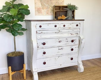 Chest of drawers etsy for American empire bedroom furniture