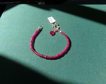 Ruby bracelet 14k gold filled  item 973