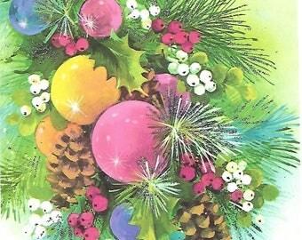 Vintage Christmas Bulb Card