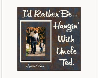 Gift for Uncle Birthday | Gifts for Uncle | Gift From Nephew | Gift From Niece | Personalized Picture Frames | Aunt Gifts