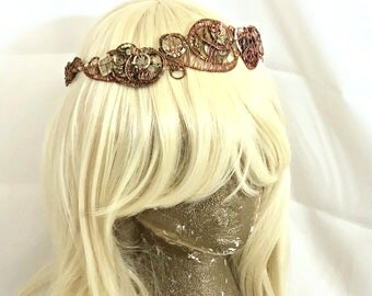Steampunk Clockwork Tiara Crown