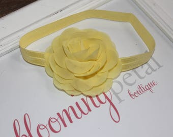 Yellow Chiffon Flower Headband