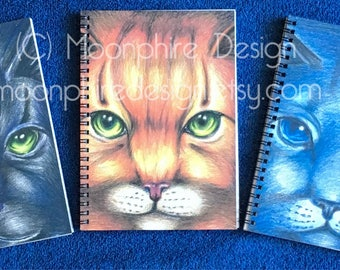 Warriors Cats Notebook Journal Firestar Bluestar Hollyleaf Book Back to School